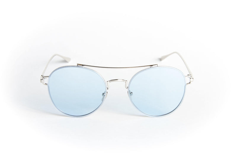 Unisex round metal sunglasses Ground Round