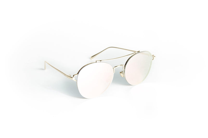Unisex round metal sunglasses Ground Round - The Ever Collection
