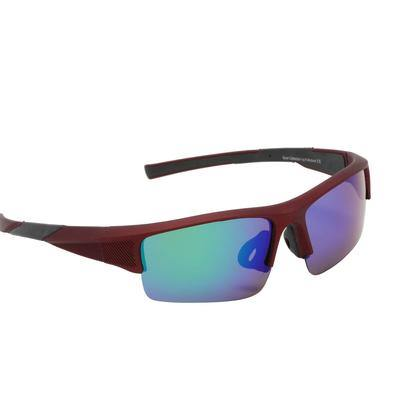 "Sports Sunglasses Designer Sunglasses Model ""Total Recall"" Maroon By: The Ever Collection"