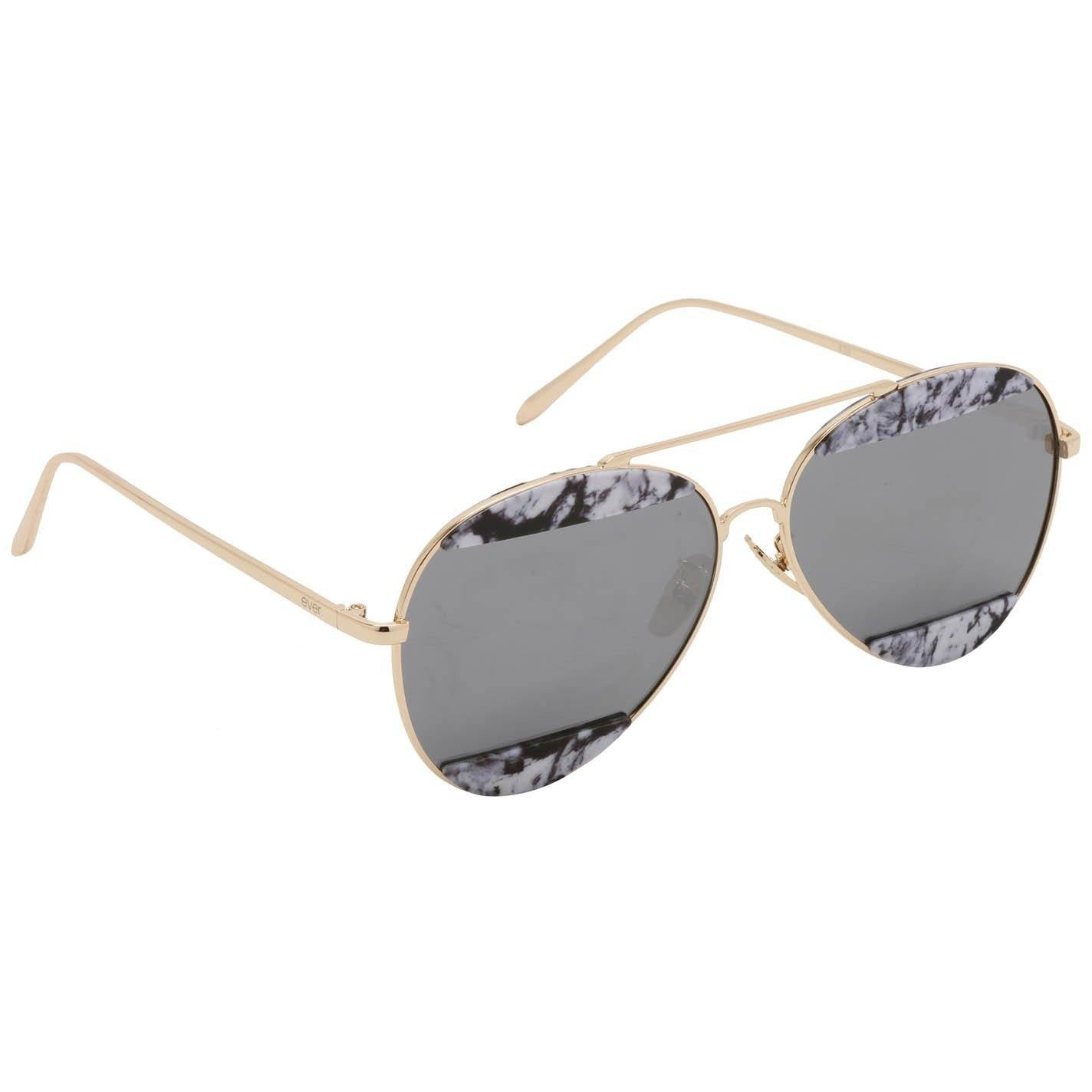 "Ever Fashion Designer Sunglasses Model ""Marble Aviators"" By: The Ever Collection"