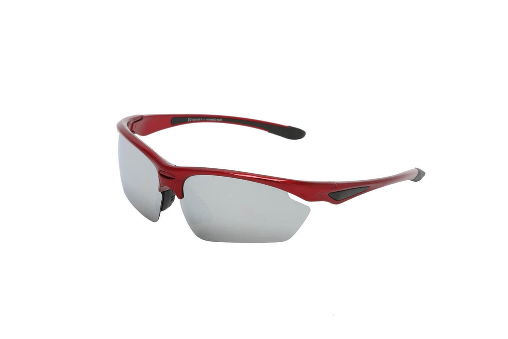 "Sports Sunglasses Designer Sunglasses Model ""Sprinter"" Red By: The Ever Collection"