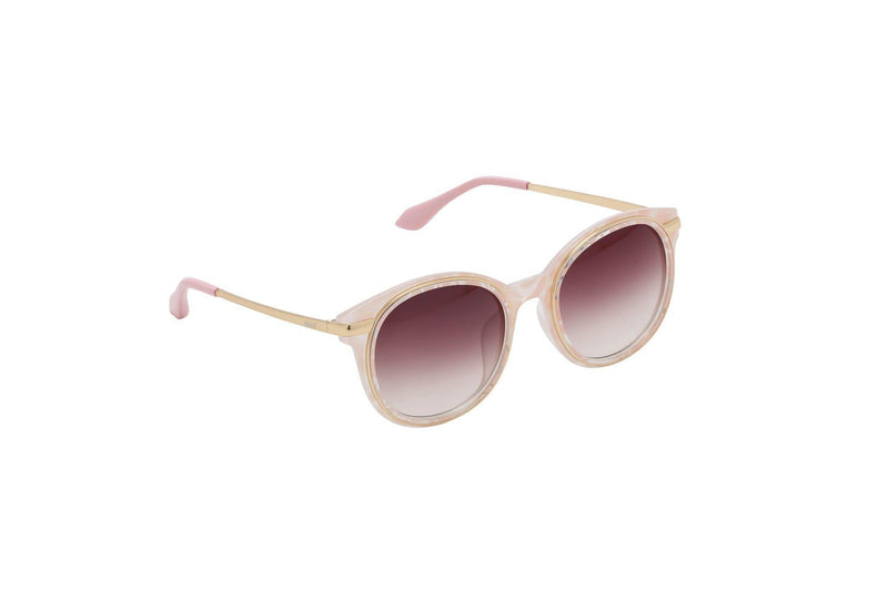 Unisex stylish round sunglasses Porcelain - The Ever Collection