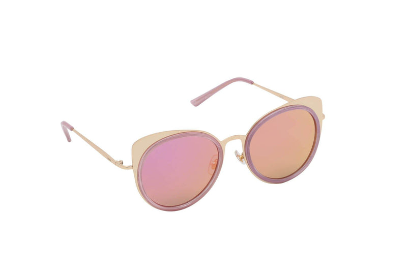 Women round metal cat eye sunglasses Cat Walk - The Ever Collection