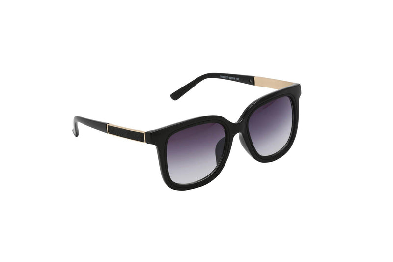 Unisex stylish big square frames with rubber legs Blackout Blackout
