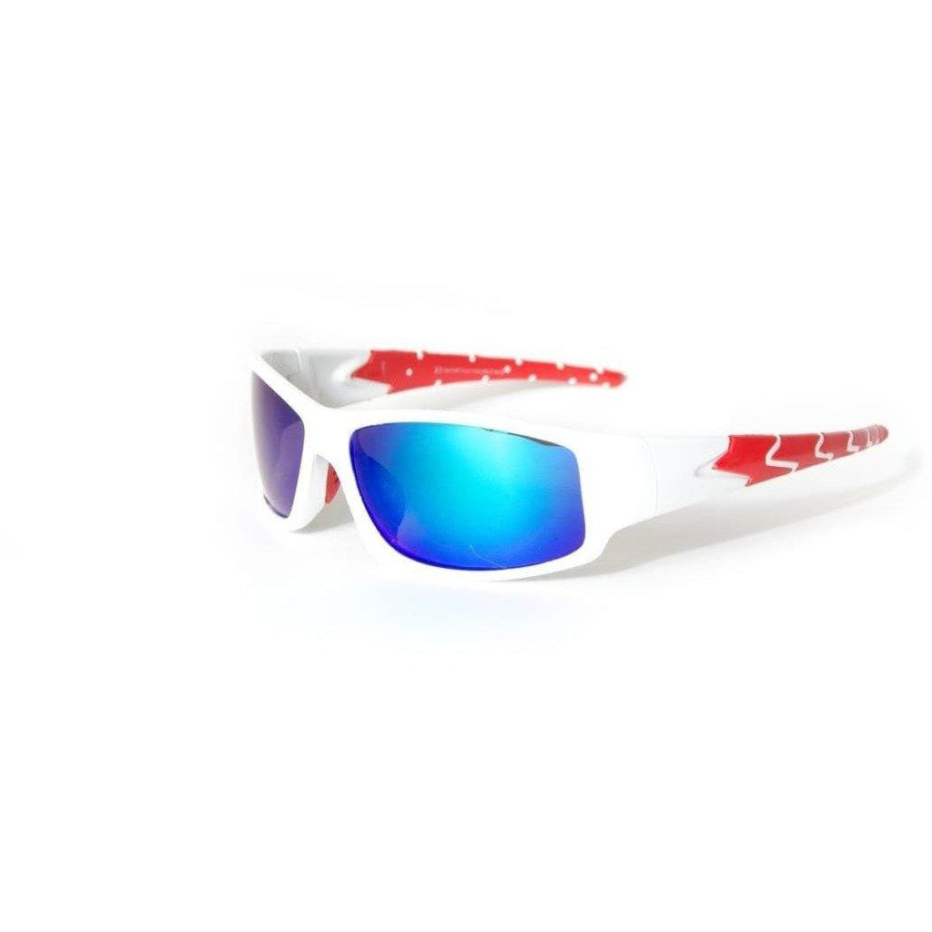 "Sports Sunglasses Designer Sunglasses Model ""Scorpion Tail"" White By: The Ever Collection"