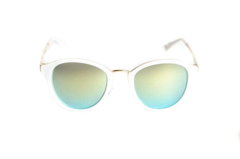 Flexible unisex round sunglasses White Line - The Ever Collection
