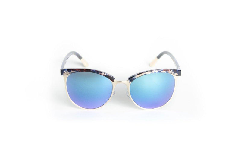 Unisex stylish brow line with marble accent sunglasses