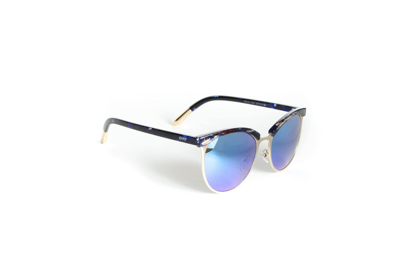 Unisex stylish brow line with marble accent sunglasses - The Ever Collection