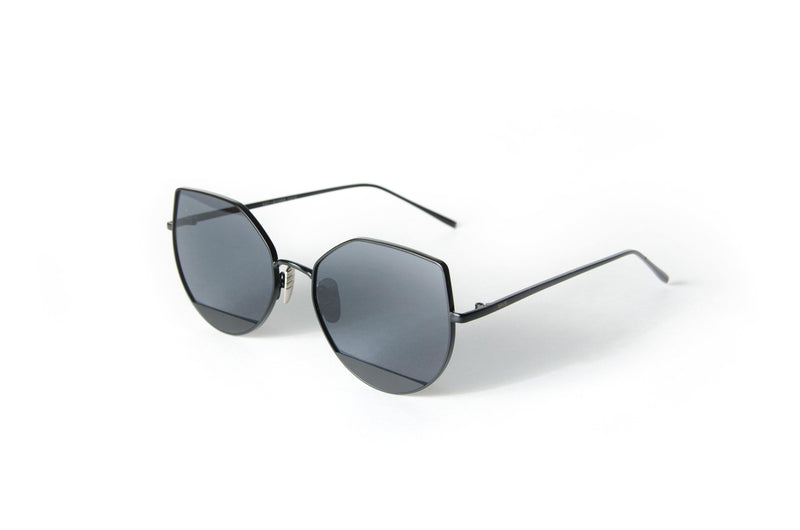 Big oversized Unisex metal cat eye style sunglasses Bella Cat Eye - The Ever Collection