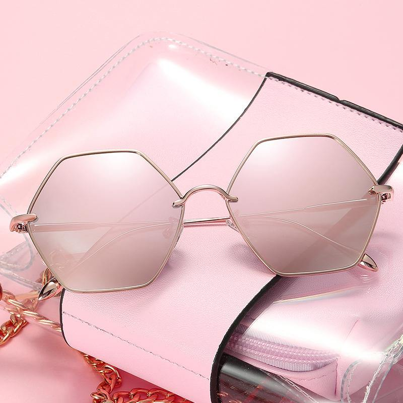 Metal Octagon Frame Sunglasses Luna