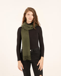 Army Green Cashmere Scarf
