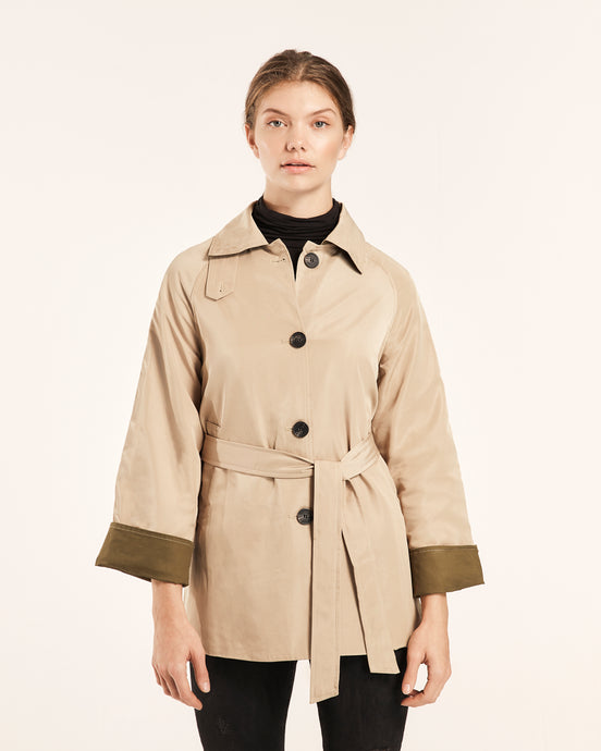 Short Safari Trench Coat
