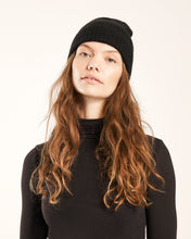 Load image into Gallery viewer, Black Cashmere Beanie
