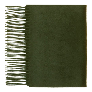 Hector Powe Army Green Cashmere Scarf
