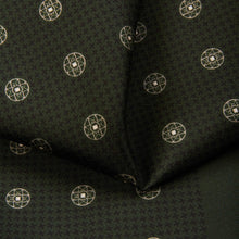 Load image into Gallery viewer, Madder Green Baroque Pocket Square