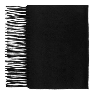Hector Powe Black Cashmere Scarf