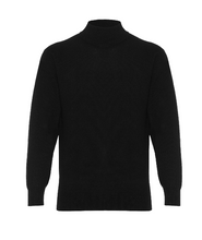Load image into Gallery viewer, Hector Powe Black Cashmere Polo Neck Jumper