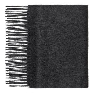 Hector Powe Charcoal Cashmere Scarf