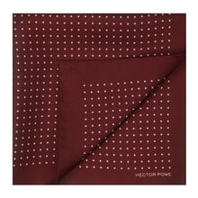 Load image into Gallery viewer, Maroon Spotted Pocket Square