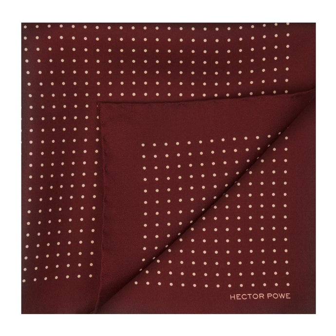Maroon Spotted Pocket Square