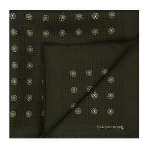 Madder Green Baroque Pocket Square
