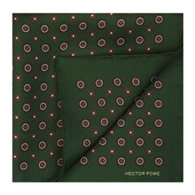 Load image into Gallery viewer, Green Medallion Pocket Square