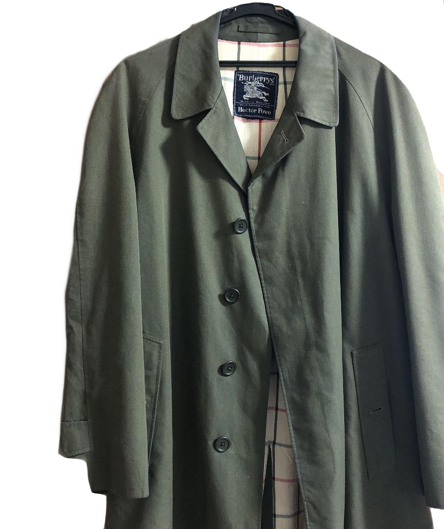 Hector Powe x Burberry Green Overcoat