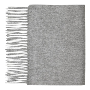 Hector Powe Grey Cashmere Scarf