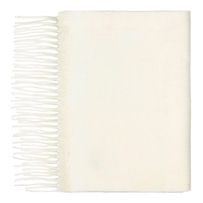 Hector Powe Ivory White Cashmere Scarf