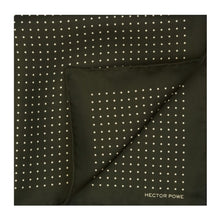Load image into Gallery viewer, Madder Green Spotted Pocket Square
