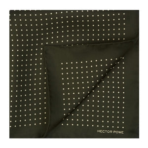 Madder Green Spotted Pocket Square