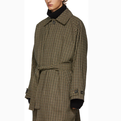 Hector Powe Men's Checked Overcoat