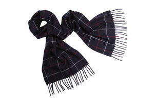 Hector Powe Navy Varsity Cashmere Scarf