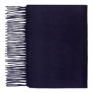 Hector Powe Navy Cashmere Scarf