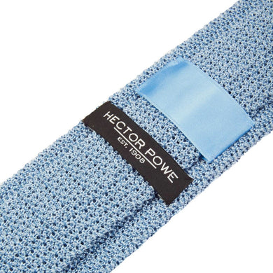 Pale Blue Knitted Tie