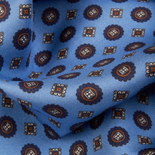 Load image into Gallery viewer, Pale Blue Medallion Pocket Square