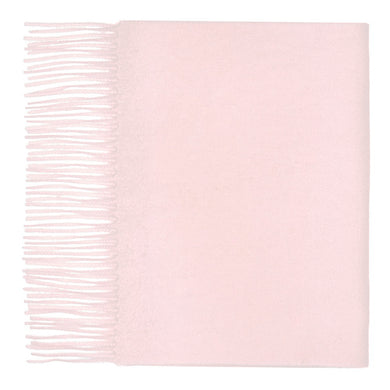 Hector Powe Pale Pink Cashmere Scarf
