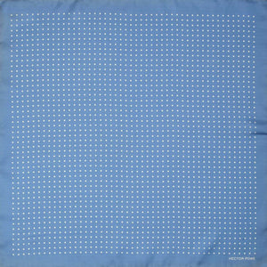 Pale Blue Spotted Pocket Square