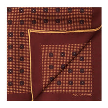 Load image into Gallery viewer, Maroon Baroque Pocket Square