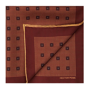 Maroon Baroque Pocket Square