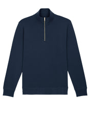 Load image into Gallery viewer, Quarter Zip Organic Sweatshirt - Navy