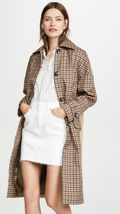 Hector Powe Women's Heritage Checked Coat