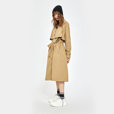 Hector Powe Women's Panelled Trenchcoat