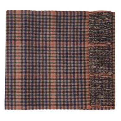 Hector Powe Tweed Check Cashmere Scarf