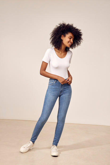 Jeans slim taille haute ELLIOT Denim - Light blue IN 24