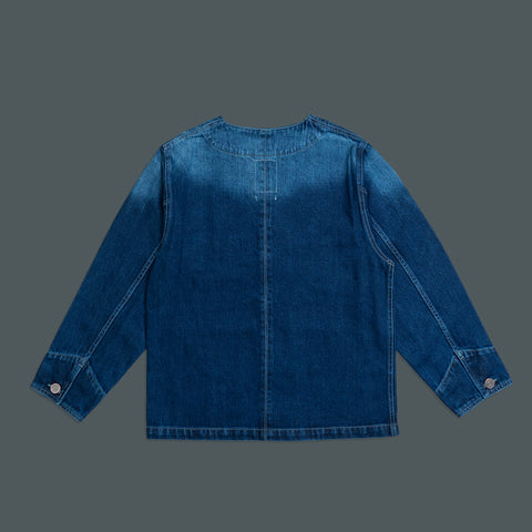COLLARLESS DENIM JACKET 2584