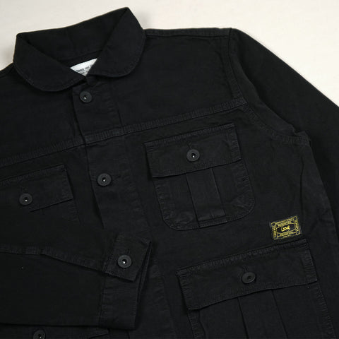 FIELDS PARKA JACKET BLACK DYED 2587-1
