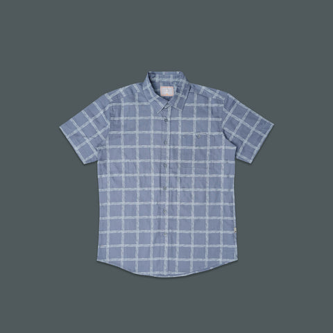SHORT SLEEVE CASUAL PLAID SHIRT 3001