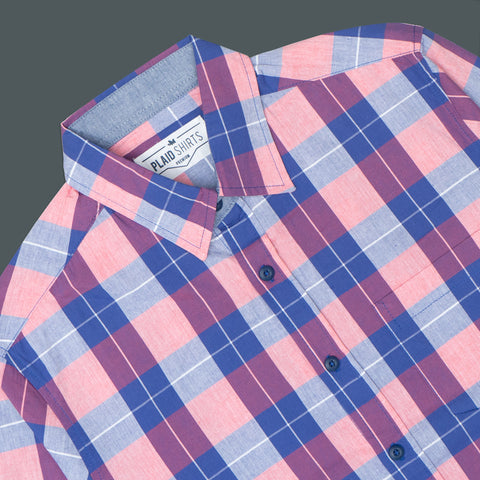 LONG SLEEVE CASUAL PLAID SHIRT 3004