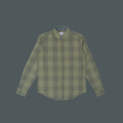 LONG SLEEVE CASUAL PLAID SHIRT 3005